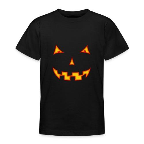 Halloween Kürbisgesicht - Teenager T-Shirt