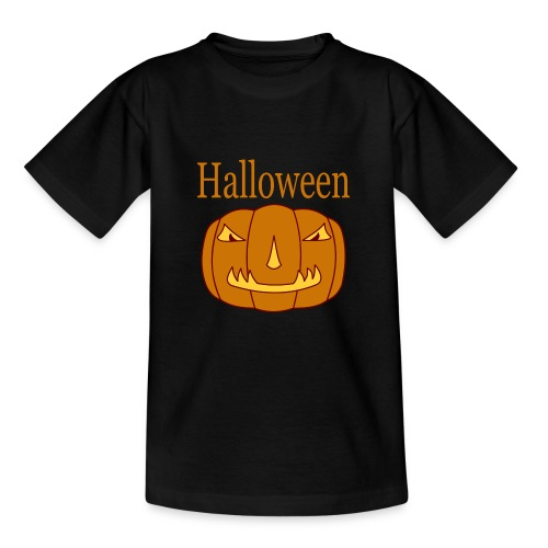 Halloween Kürbis mit Gruselmaske - Teenager T-Shirt