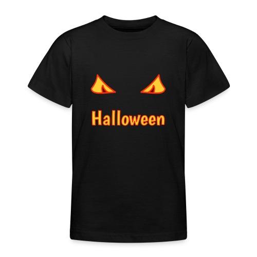 Halloween mit Gruselaugen - Teenager T-Shirt