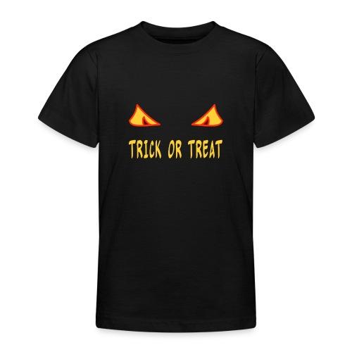 Halloween trick or treat mit Monsteraugen - Teenager T-Shirt