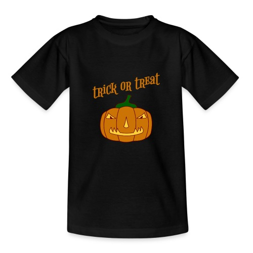 Halloween trick or treat und Kürbis - Teenager T-Shirt
