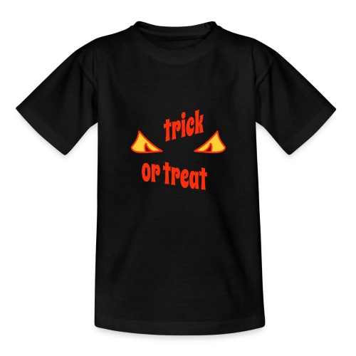 Halloween trick or treat mit Gruselaugen - Teenager T-Shirt