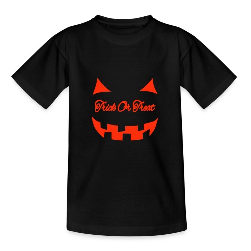 Halloween trick or treat und Gesicht - Teenager T-Shirt