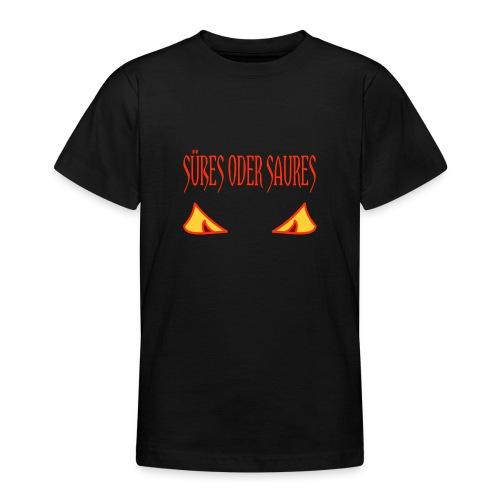 Halloween Süßes oder Saures mit Gruselaugen - Teenager T-Shirt