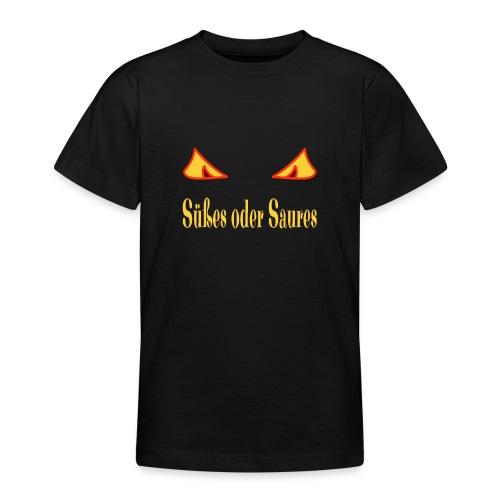 Halloween Süßes oder Saures mit Zombieaugen - Teenager T-Shirt