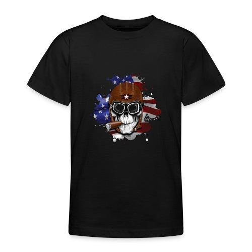 AMERICAN PILOT - SKULL - USA - LAHJATUOTTEET - Nuorten t-paita