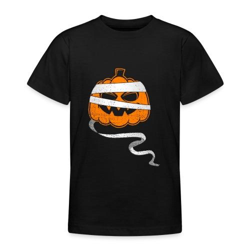 Halloween Bandaged Pumpkin - Teenager T-Shirt