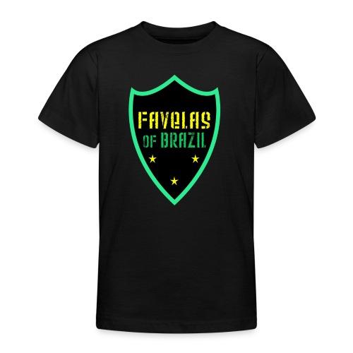 FAVELAS OF BRAZIL NOIR VERT DESIGN - T-shirt Ado