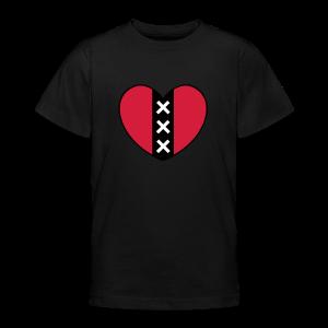 Hart met het symbool van de stad Amsterdam - Teenager T-shirt