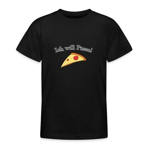 Ich will Pizza das Design zum Kartenspiel - Teenager T-Shirt