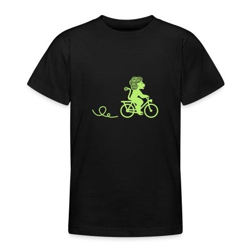 Züri-Leu beim Velofahren ohne Text - Teenager T-Shirt