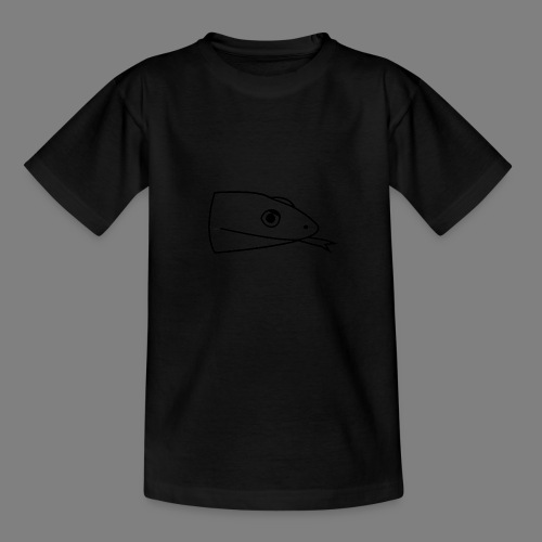 Snake logo black - Teenager T-shirt