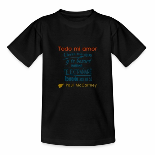 All my loving español 1 - Camiseta adolescente