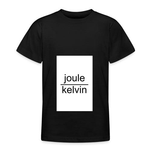 J/K unità di misura dell'ENTROPIA - Maglietta per ragazzi