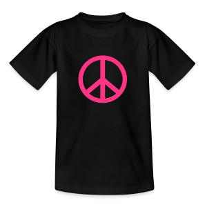 Gay pride peace symbool in roze kleur - Teenager T-shirt