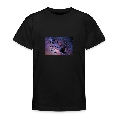 Katzen Galaxie - Teenager T-Shirt