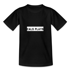 Cals Plays Text White - Teenage T-shirt