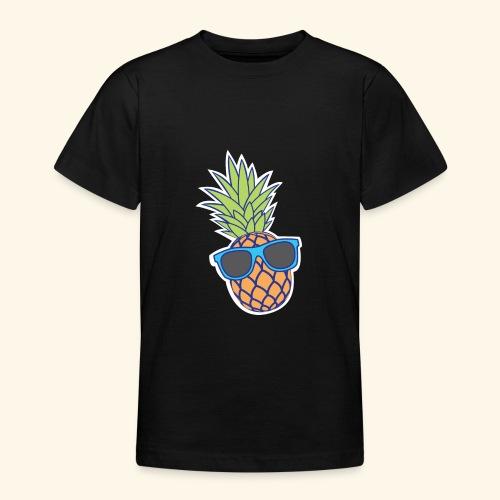 ananas met zonnebril - Teenager T-shirt
