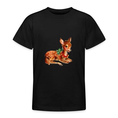 Vintage Christmas Deer - Teenage T-Shirt
