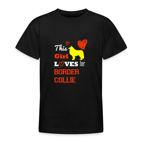 Border Collier - Teenager T-Shirt