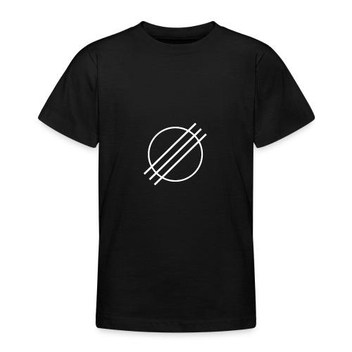 DJ Øyvind Offisiell Logo (hvit) - T-skjorte for tenåringer
