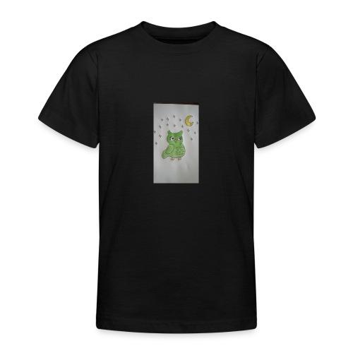 Grüne eule - Teenager T-Shirt