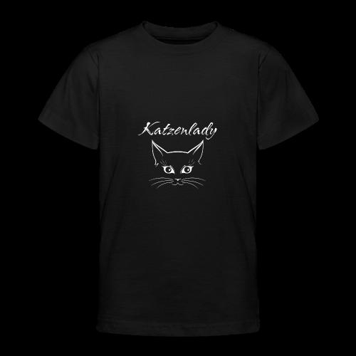 Katzen T-Shirt - Katzenlady - Teenager T-Shirt
