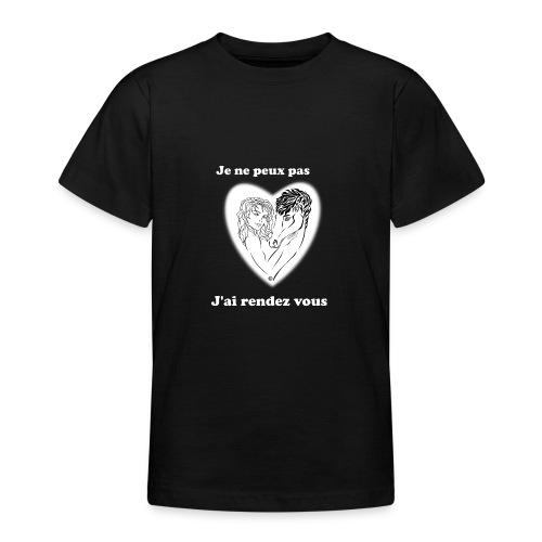 cheval j'peux pas cheval passion cœur tendre FS - T-shirt Ado