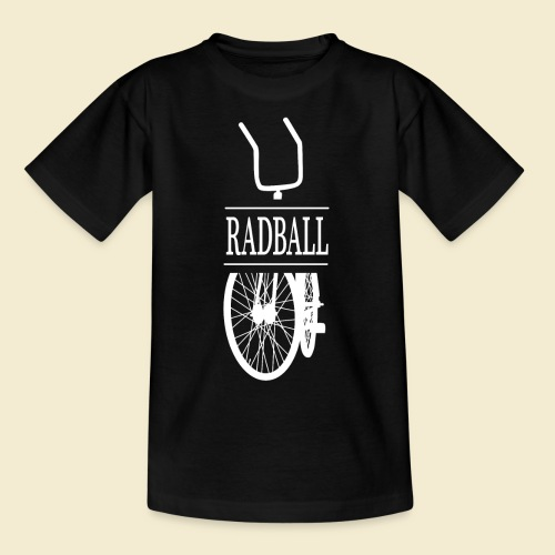 Radball | Retro White - Teenager T-Shirt