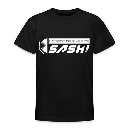 DJ SASH! Turntable Logo - Teenage T-Shirt