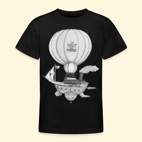 Bateau volant steampunk - Le Haut de France - T-shirt Ado