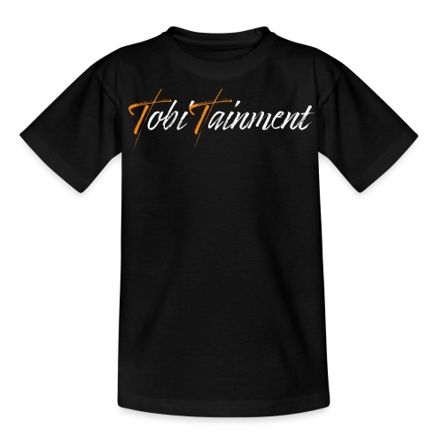 TobiTainment Logo White - Teenager T-Shirt