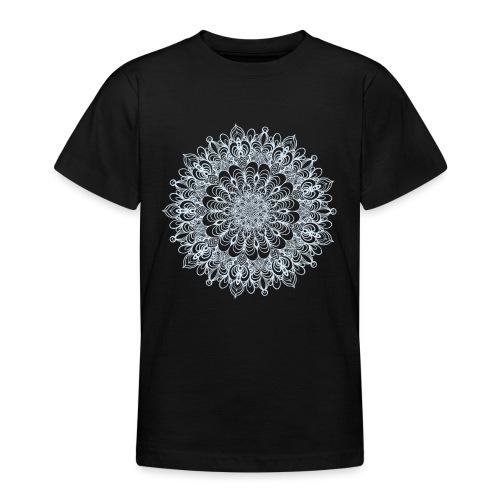 Mandala Zeichnung Kreis Spirale Blumen Line Art - Teenager T-Shirt