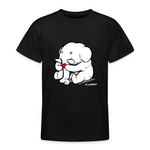 Stef 0002 00 Lesefant - Teenager T-Shirt