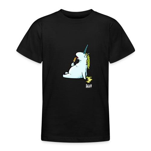 STE 0006 00 Eis Einhorn - Teenager T-Shirt