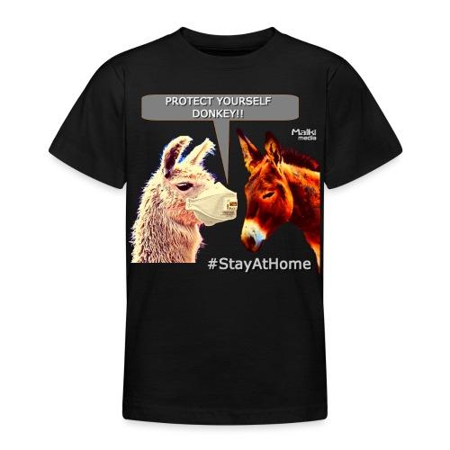 Protect Yourself Donkey - Coronavirus - Teenage T-Shirt