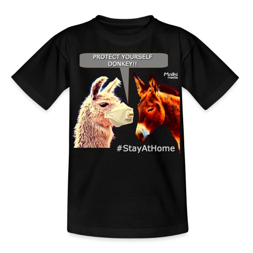 Protect Yourself Donkey - Coronavirus - Teenager T-Shirt