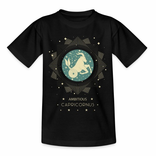 Sternzeichen Ehrgeiziger Steinbock Dezember Januar - Teenager T-Shirt