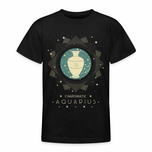 Sternzeichen Wassermann Aquarius Januar Febbruar - Teenager T-Shirt