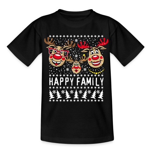 94 Hirsch Rudolph HAPPY FAMILY Papa Mama Kind - Teenager T-Shirt