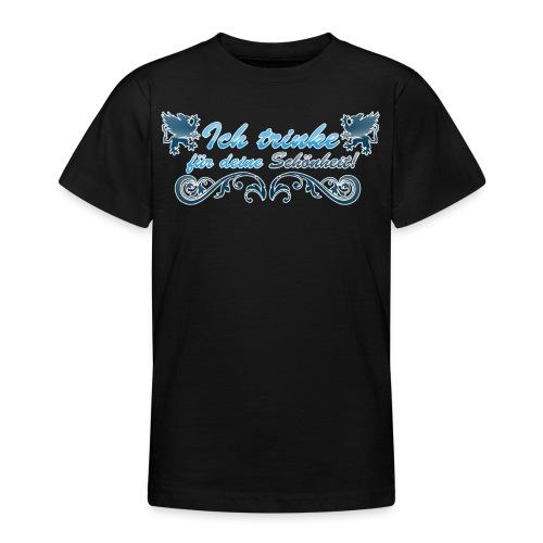 Ich trinke für deine Schöheit - Teenager T-Shirt