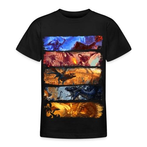 Great Pixel Battle - Dungeons Dragons ja D & D - Nuorten t-paita