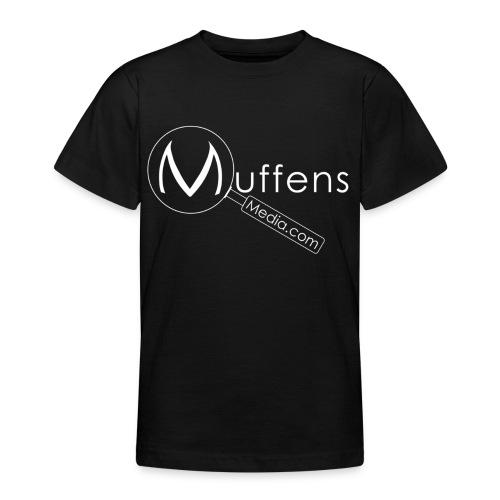 Muffens Media hvit logo - Teenage T-Shirt