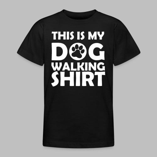 Hundepfote This is my DOG WALKING SHIRT Geschenk - Teenager T-Shirt