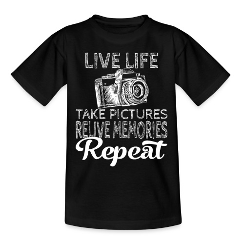Take Pictures Skizzierter Fotoapparat Fotografie - Teenager T-Shirt