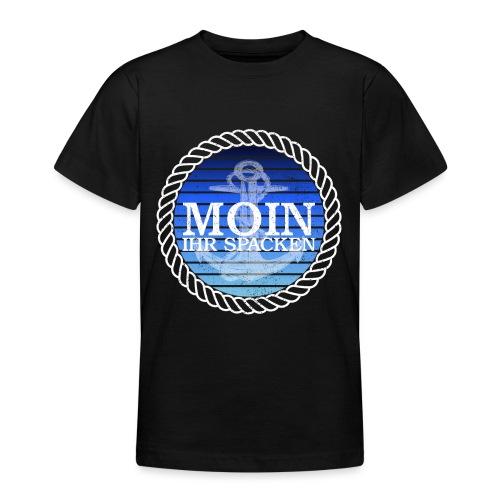 Moin ihr Spacken maritimer Retrokreis Geschenkidee - Teenager T-Shirt