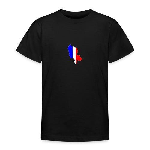 Carte Territoire de Belfort bleu blanc rouge - T-shirt Ado