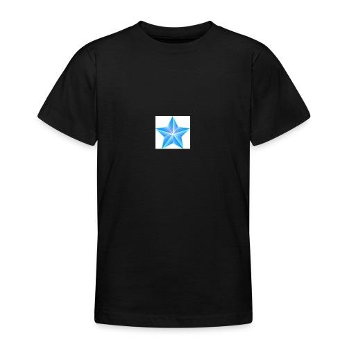 blue themed christmas star 0515 1012 0322 4634 SMU - Teenage T-Shirt