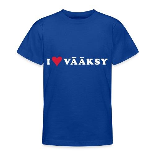 I LOVE VAAKSY - Nuorten t-paita