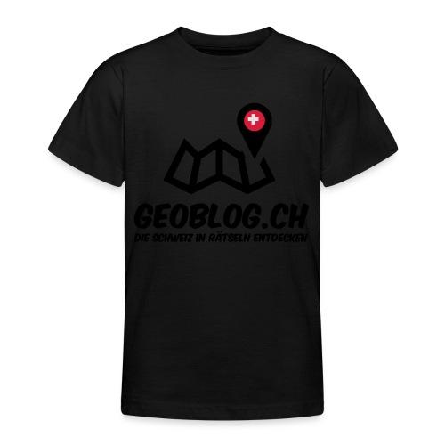 Logo+Schriftzug-hoch - Teenager T-Shirt